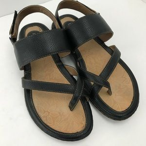 B.o.c. By born black strap sandals 9M EUC